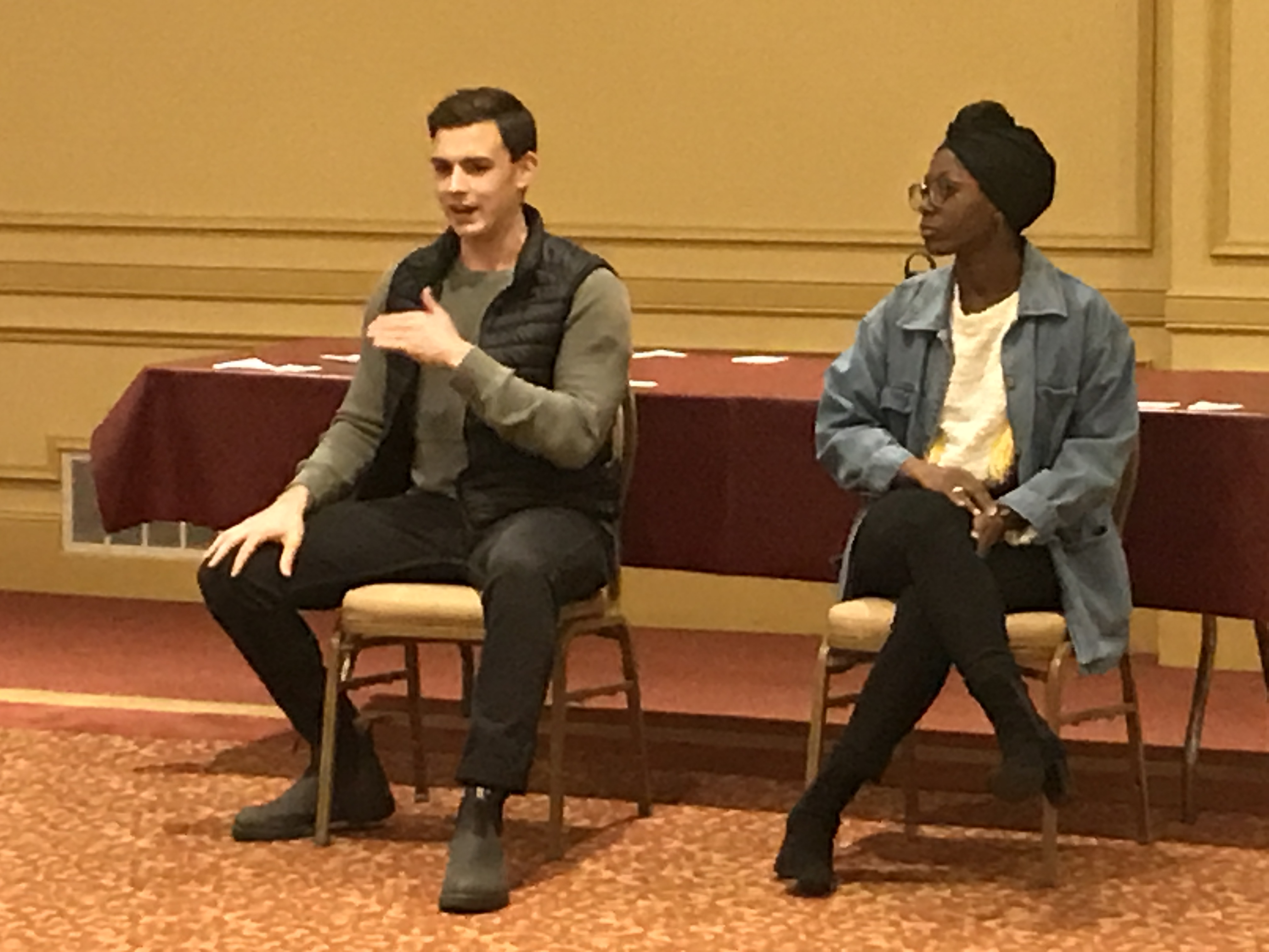 BROADWAY UTICA'S YOUTH AMBASSADORS HEAR FROM CAST MEMBERS