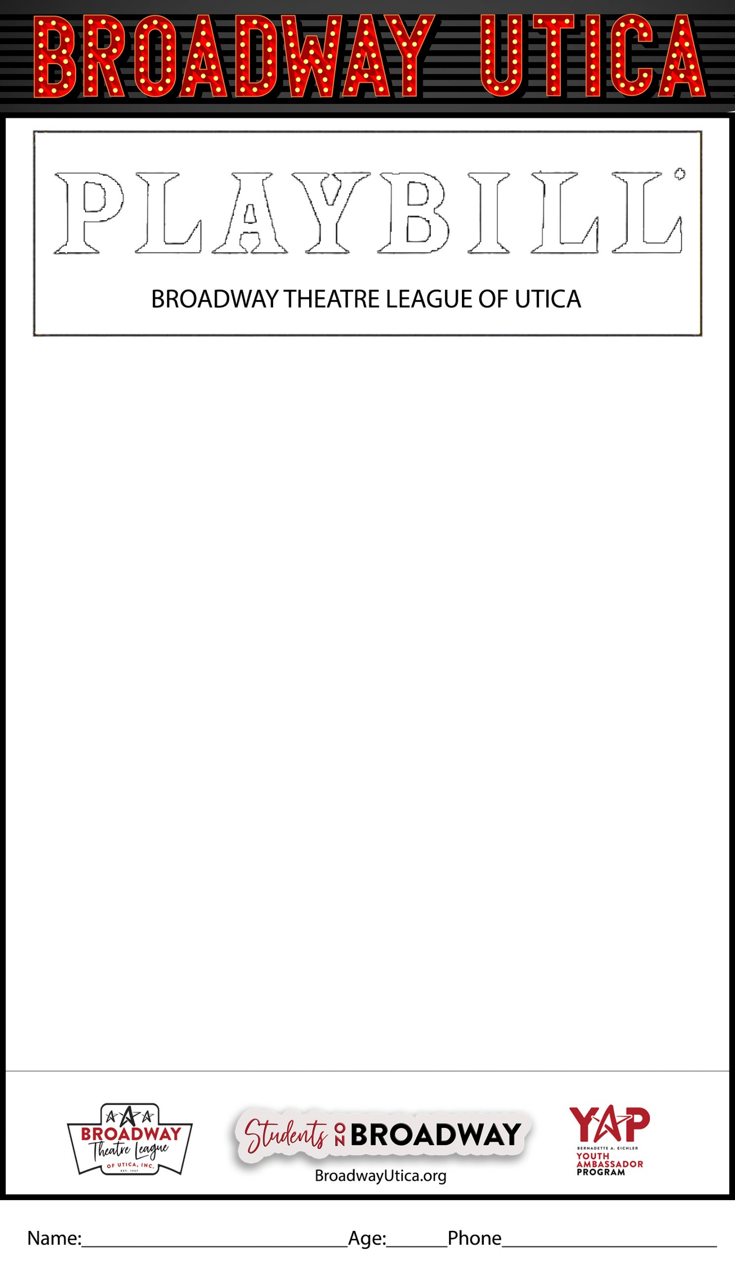 THE PLAYBILL COVER CONTEST