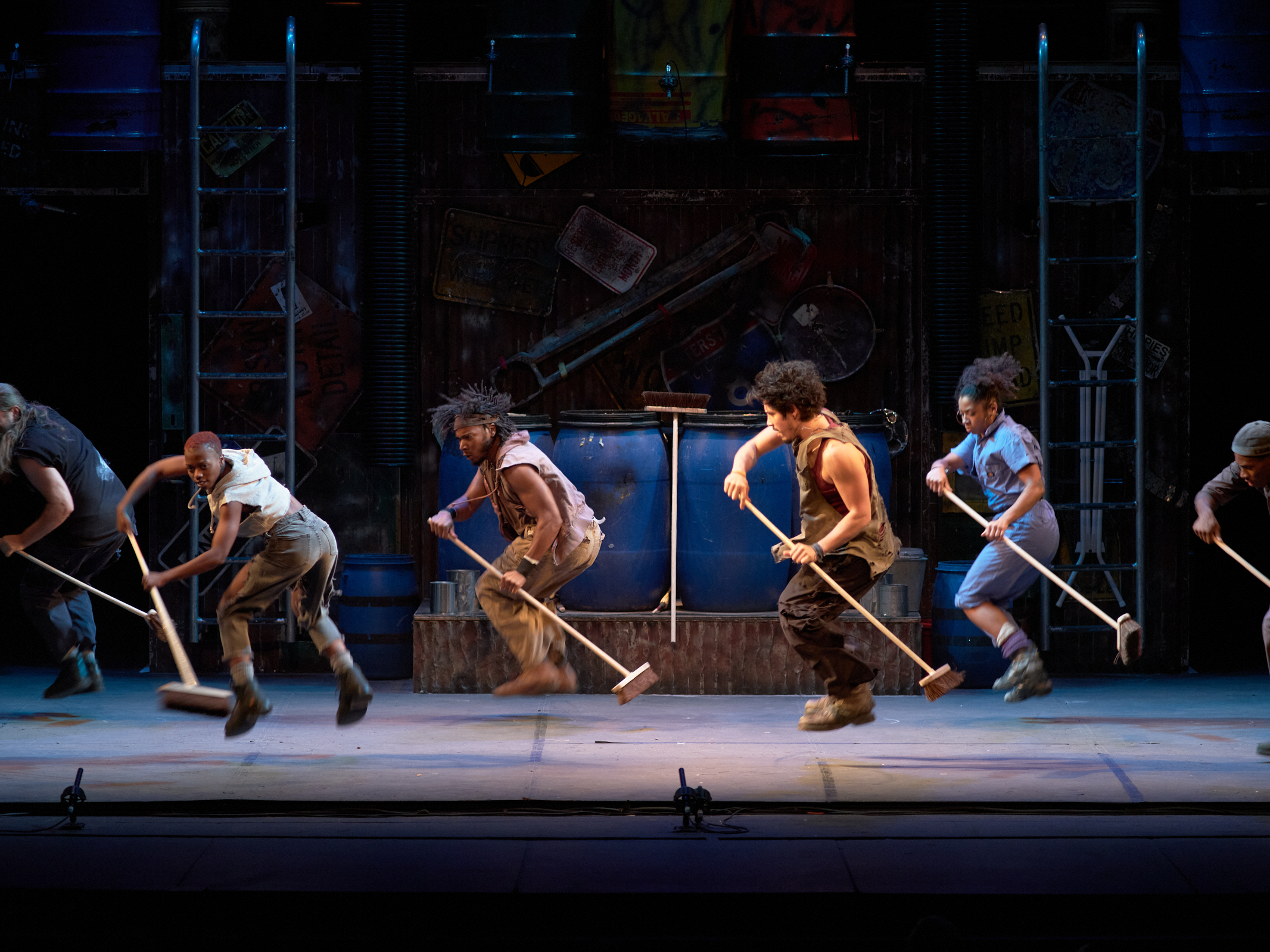 STOMP Dancing with brooms